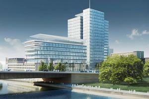Das ehemalige Lufthansa-Hochhaus am Deutzer Rheinufer erhält ein neues Erscheinungsbild<br />