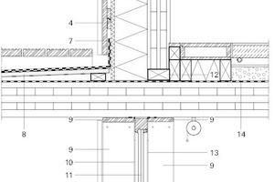 Detail Balkon/Fluchtweg, M 1 : 20