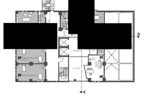 Grundriss 3, OG: OP-Bereich, M 1:400<br />
