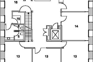 Grundriss 2. Obergeschoss, M 1:250