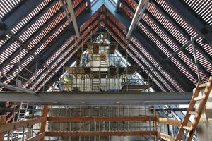 Blick unter das Turmdach