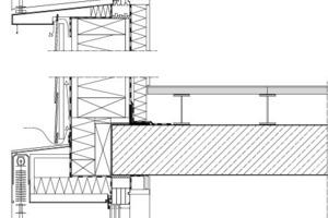 Detail Fassadenschnitt, M 1:20<br />