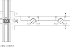 Detail Seilklemme, Ansicht horizontal<br />