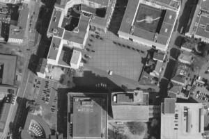 Luftbildaufnahme vom Quartier Neumarkt