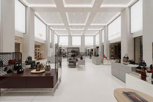 """Durch das klare Innenraumkonzept von Kleihues + Kleihues erhält das Alsterhaus Hamburg ein Makeover. Die neu eröffnete, 8 m hohe """"Luxury Hall"""" ist das Herzstück des Hauses"""