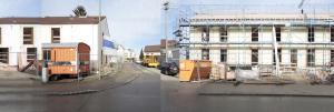 So ähnlich sahen beide Gebäude vor dem Umbau aus