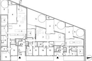 Erdgeschoss, M 1:400<br />