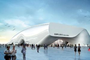 Themenpavillon Weltausstellung, Yeosu, Korea, Kinematische Medienfassade, 2012; Architekten: Soma Architecture, Wien<br />