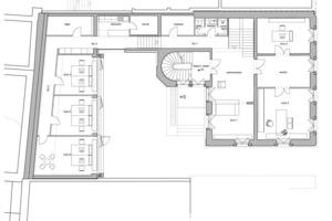 Grundriss, Umbau eines Wohnhauses in ein Büro, Weissliliengasse in Mainz<br />