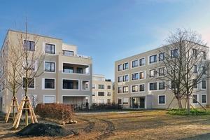 Ersetzt wurde eine Zeilenbebauung aus den 1950er-Jahren. Entstanden ist ein System aus Stadtvillen, das sich ganz nach dem vorhandenen wertvollen Baumbestand richtet
