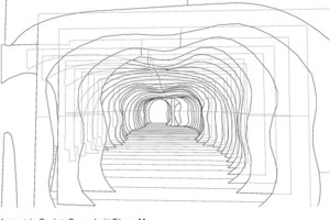 Isometrie Gerüst, Querschnitt Tür, o.M.<br />