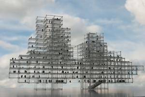 Modell Stahlfachwerk