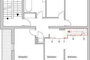 Grundriss Obergeschoss Haus 1, M 1:125<br />