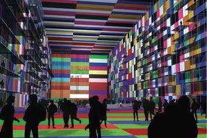 MVRDV Architekten, Rotterdam, Container City, 2001, geplantes Container-Gebäude aus 3.500 gebrauchten Containern