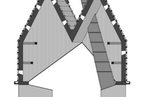 Fassadenschnitt, M 1:200