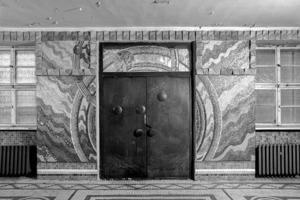 Der Eingang im Erdgeschoss vor der Restaurierung