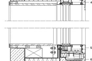 Vertikalschnitt Fenster, M 1:10