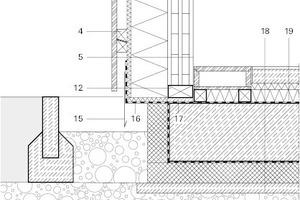 Detail Bodenplatte/Fassade, M 1:20