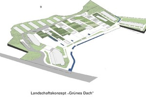 """Landschaftskonzept """"Grünes Dach""""<br />"""
