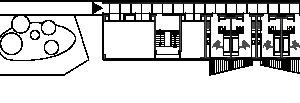 Grundriss Ebene 1, M 1:750