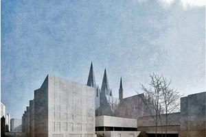 Staab Architekten schließen den Roncalliplatz zur Altstadt mit einem vielfach adressierten Riegel ab