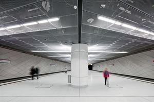 Das fertiggestellte Wehrhahnlinien-Kontinuum in der Station Heinreich-Heine-Allee<br />