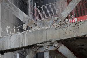 Stahlkonstruktion im Treppenhaus