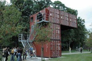"""Luc Deleu / t.o.p. office """"kunstlab orbino"""", 2002, ein Ausstellungspavillon in den Niederlanden, © Luc Deleu, VG Bild-Kunst, Bonn 2011"""