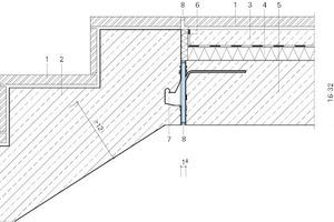 Abb.1: Querschnitt eines akustisch entkoppelten Treppenlaufs