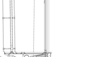 Fassadenschnitt, M 1:33 <sup>1</sup>/3<br />