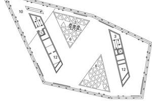 Grundriss Ebene 06, M 1:750<br />