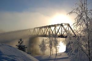 Eisenbahnbrücke bei Vaalankurkku, Finnland