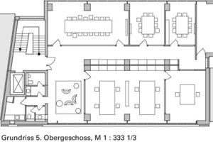 Grundriss 5. Obergeschoss, M 1:333 <sup>1</sup>/3