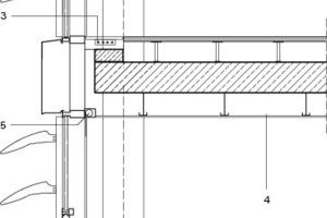 Fassadenschnitt, M 1:50
