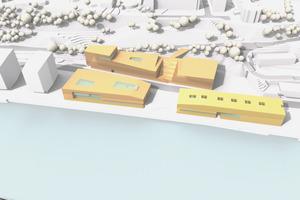 Planungsansicht -  APB.Architekten BDA (Hamburg) mit den Rehwaldt Landschafts-architekten (Dresden)