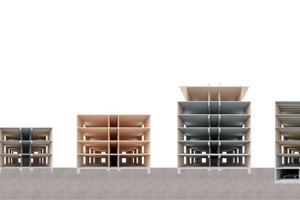Eine Chance für den Wohnungsbau: Mittels werkseitiger Vorfertigung und hybriden Systemen lassen sich Gebäude jeder Höhe schnell und kostengünstig errichten