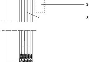 Vertikalschnitt Laubengang, M 1:20