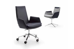 CORDIA, die Konferenz- und Bürostuhlserie, verbindet Sitzkomfort mit ergonomischer Gestaltung. Sie besteht aus gepolsterten Sitzschalen mit Armlehnen, zwei verschieden hohen Rückenlehnen und Kippmechanik. Zur Wahl stehen Aluminiumgestelle mit Füßen auf Gleitern oder Rollen, alternativ ein Drahtgestell. Die Bezüge zeigen interessante Farb- und Materialwechsel. Die von Jehs + Laub gestalteten Stühle möblieren repräsentative Büro- oder Konferenzräume, Lounges sowie Wartezonen, Home Offices oder Privaträume.  www.cor.de