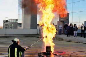 Brandsimulation im Rahmen der BrandSchutzTage