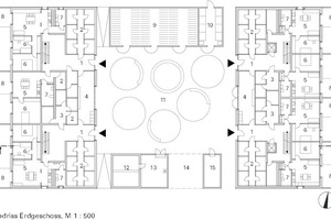 Grundriss Erdgeschoss, M 1:500<br />