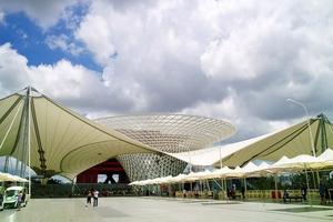 Space Home Pavillon der China Aerospace Science and Technology Corporation (CASC) und China Aerospace Science & Industry Corp auf der Weltausstellung 2010 in Peking, die Planung des Projektes umfasste die Master Thesis von Yu Zhao