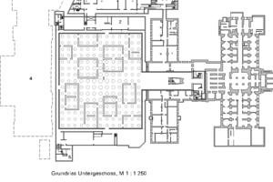 Grundriss UG mit Gartenhallen