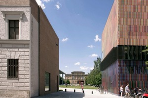 Türkentor, Ansicht Türkenstraße, Blick auf die Alte Pinakothek<br />
