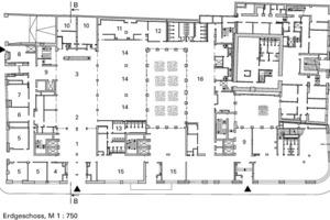 """<div class=""""10.6 Bildunterschrift"""">Erdgeschoss, M 1:750</div>"""