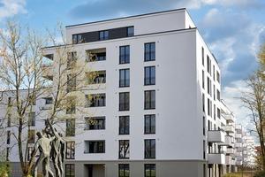 Direkt im Anschluss an den viergeschossigen Bestandsbau am Römerweg erstreckt sich ein Torhaus mit siebengeschossigem Abschluss