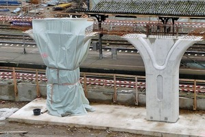 Stützenkonstruktion Brückenbauwerk