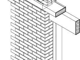 Fassadenaufbau Fenstersturz/Ringbalken, o.M.<br />