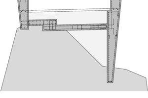 Detailschnitt 2 Schaufelschluchtbrücke, M 1:100