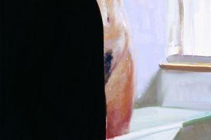Eric Fischl, Bathroom Scene # 5, 2005  Öl auf Leinwand, 182,9 x 91,4 cm  Olbricht Collection © Eric Fischl, Courtesy Galerie Jablonka/Köln, Berlin