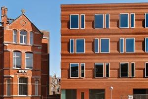 """Neben der ästhetischen Nachhaltigkeit von """"La Façade"""", spielt auch die ökologische, ökonomische und energetische Nachhaltigkeit eine große Rolle. Dafür ist das Gebäude mit dem Zertifikat BREEAM-NL *** Very Good ausgezeichnet worden, das bei der Bewertung den gesamten Lebenszyklus eines Gebäudes berücksichtigt<br />"""